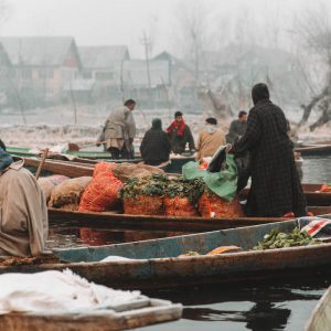 Aanrader in Srinagar: de floating market